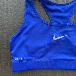 Nike Dry Fit sports bra blue size M